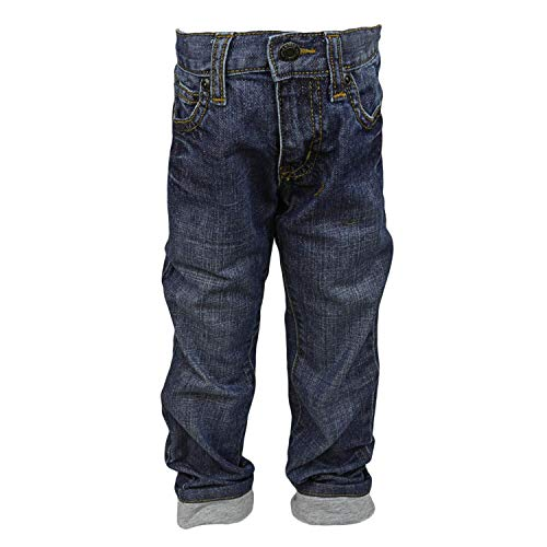 Janie and Jack Jersey Cuffed Jean Pants - 6-12 Months - Medium Wash