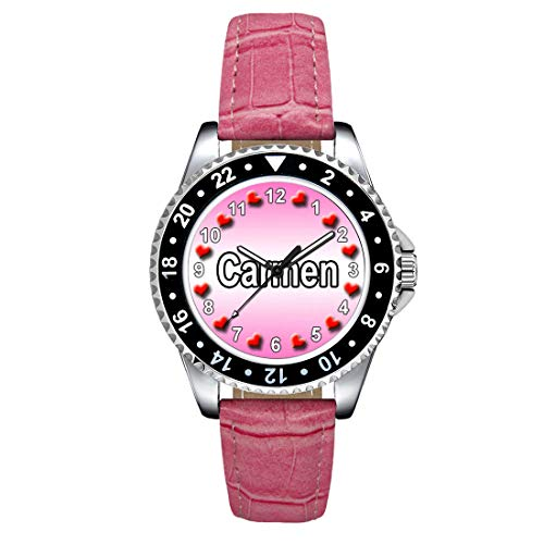 Timest–Carmen–ユニセックス手首Watch with Silicone Strap Roundアナログクォーツse1083