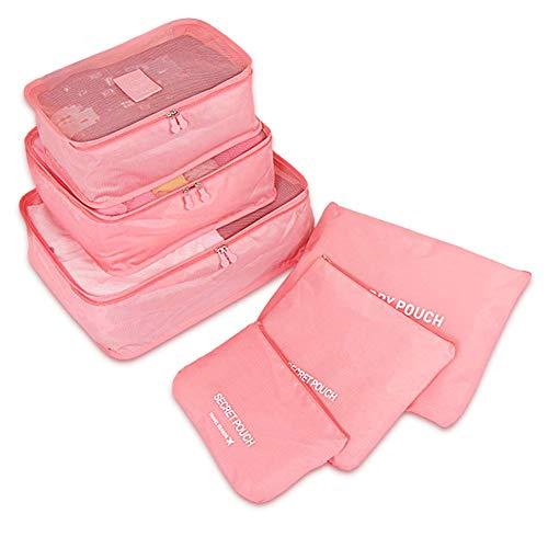 PHABULS Travel Bag Organizer Set Luggage Bags Organizers Cute travel cubes Packing Cubes Set Of 6
