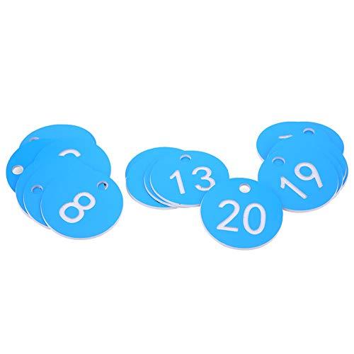 cersalt Etiqueta numerada para Ganado, Etiqueta de número de Granja Segura y sólida, Liviana, fácil de Transportar, cría de Animales para la Apicultura(Blue, 1-20/bag)