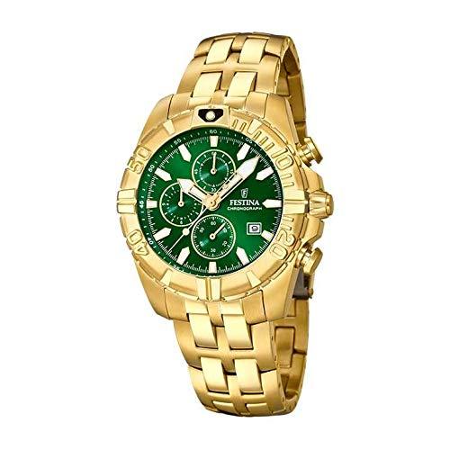 Festina Herren Analog Quarz Uhr mit Edelstahl Armband F20356/6