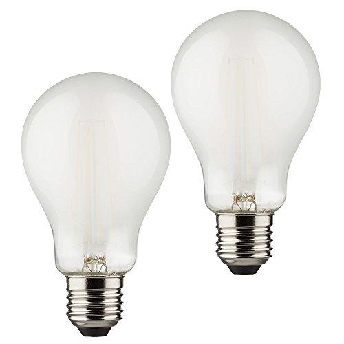 Müller-Licht–400296_ Set A + +, Juego de 2Retro de forma bombilla LED (equivalente a 60W, cristal, 6W, E27, Plata, 6x 6x 10.6cm