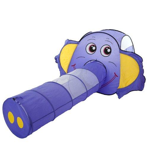 lila Elefant pop up Zelt Bällebad mit 150 bunten Bällen