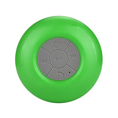 Altavoz Impermeable IP4,Altavoces Bluetooth,Bluetooth 3.0,Altavoz Portatil Bluetooth,Estereo,al Aire Libre,con HD Audio y Manos Libres,Radio FM Antena Construido,USB,Llamadas Manos Libres(Verde)
