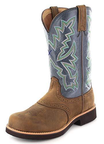 Twisted X Boots Damen Cowboy Stiefel 1717 BARN Burner Lederstiefel Westernreitstiefel Braun 36 EU