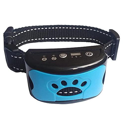 Antibell Halsband Hund - No Shock Erziehungshalsband - Humane mit Vibration und Sound, Wasserdicht Automatisch Vibrationshalsband für Kleine Mittelgroße Große Hunde 5-110 lbs - als Geschenk