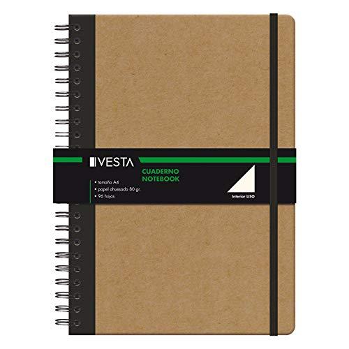 Cuaderno Vesta Nature Wire'o - Tamaño A4 - Liso