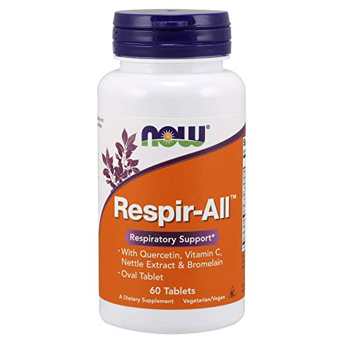 NOW Supplements, Respir-All with Quercetin, Vitamin C, Nettle Extract and Bromelain, Respiratory Support*, 60 Tablets
