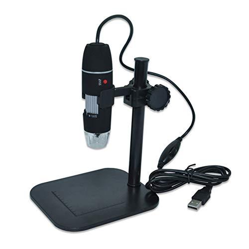 IGRNG Mini Microscopio USB Digital Cámara Microscopio Electrónico de electrones Led endoscopio 500X Gafas Lupa lupas turística Lupa Negro