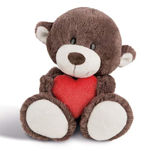 NICI Plüschtier Love Bär Junge mit Herz 30 cm – Kuscheltier Teddybär mit Herz für die Liebsten – Flauschiges Teddy-Stofftier zum Kuscheln, Spielen und...