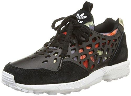 adidas ZX Flux Lace, Zapatillas Bajas para Mujer, Negro (Noir Core Black Core Black FTWR White), 36 EU