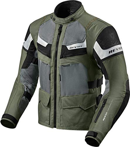 Rev it Cayenne Pro FJT193-8010-S - Chaqueta de moto (talla S), color verde y negro