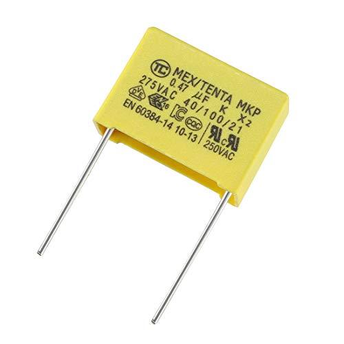 sourcing map Condensadores de seguridad de película de polipropileno 0.47uf 250vac x2 mkp 5 pcs