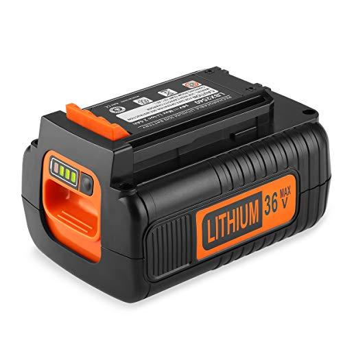Energup BL20362 36V 2.5Ah ión-litio Batería de Repuesto para Black & Decker 36V BL20362 LBX2040 LBX36 LBXR36 LBXR2036 Black + Decker 36V