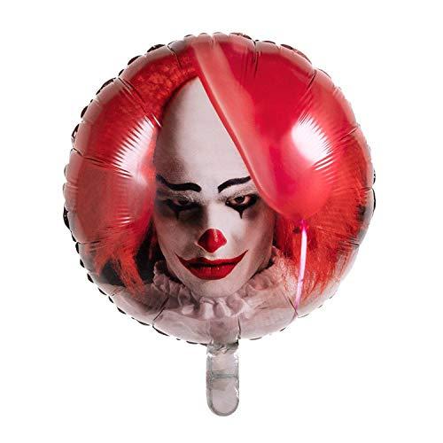 Boland 72357 - Globo terrorista (45 cm, doble cara, diseño terrorista, helio, ideal como regalo, decoración de cumpleaños, Halloween