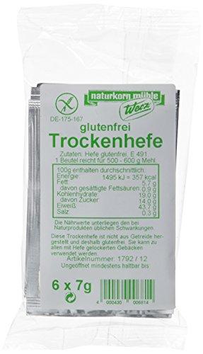 Werz Trockenhefe glutenfrei 6 Beutel á 7gr., 3er Pack (3 x 42 g Beutel)
