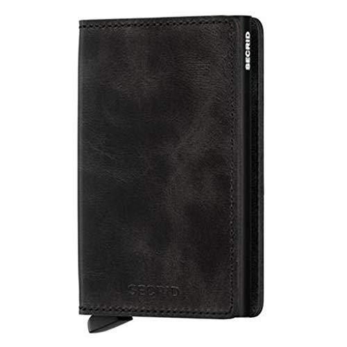 Secrid Vintage Slimwallet Börse mit RFID Schutz 6.8 cm Black