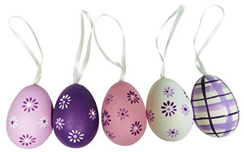 khevga Decorazione di uova pasquali violette, set da 12 pezzi