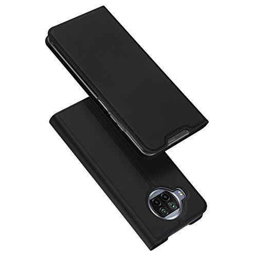 DUX DUCIS Hülle für Mi 10T Lite 5G, Leder Klappbar Handyhülle Schutzhülle Tasche Hülle mit [Kartenfach] [Standfunktion] [Magnetisch] für Xiaomi Mi 10T Lite 5G (Schwarz)