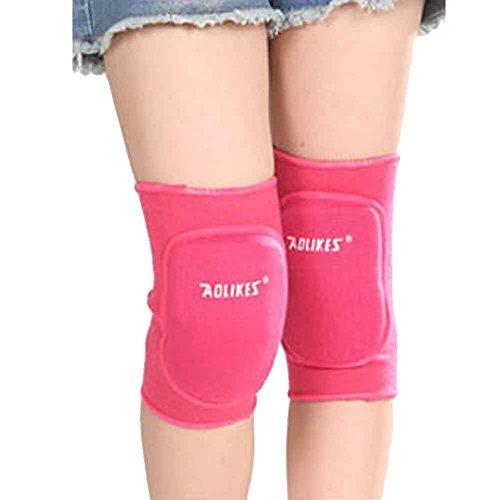 JasmineLi Juniors Knee Sleeves Breathable Elastic Knitted Thicken Sponge Knee Padding Ideal for DancingSkiingFootballother sports