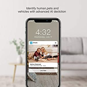 Zmodo Mini Pro, 1080P Plug-in Wireless Security Camera, Indoor Smart Home Camera with AI Motion Detection, Night Vision, 2-Way Audio, Phone App, Alexa and Google Assistants Available