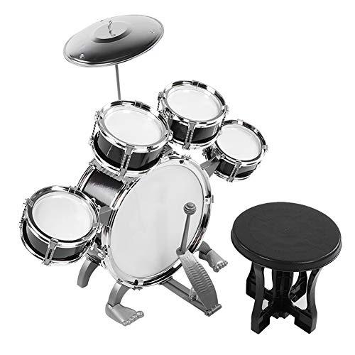 Kit de batería para niños, kit de instrumentos musicales para bebés principiantes (586-104 negro)