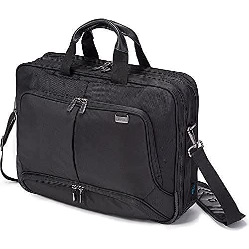 Dicota Top Traveller 14–15,6 Zoll PRO Umhängetasche für Laptop, Computer & Tablet, Leichtgewichtige Laptoptasche mit Öffnung an der Oberseite, Schwarz