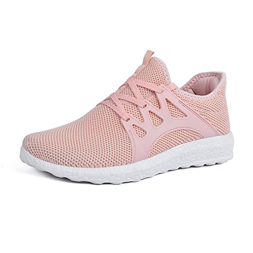 Feetmat Womens Tennis Shoes Sneakers Ultra Lightweight Breathable Mesh Walking Gym Tennis Shoes Pink 9