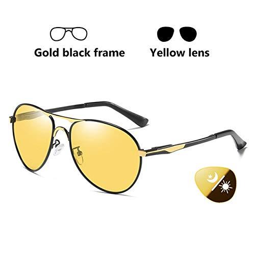 ERIOG Gafas de Sol Polarizadas Gafas de Sol Hombres, conducción fotocrómica polarizada, visión Nocturna, Gafas Protectoras, Gafas piloto para Mujeres, UV400