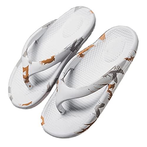 GHYUB Chanclas De Verano para Hombre,Chanclas Hombre Playa, Zapatillas De Ducha Baño, Zapatillas De Ducha Secado Rápido Zapatos De Baño Antideslizante Mule Pool Slide (Color : White, Size : EUR43)
