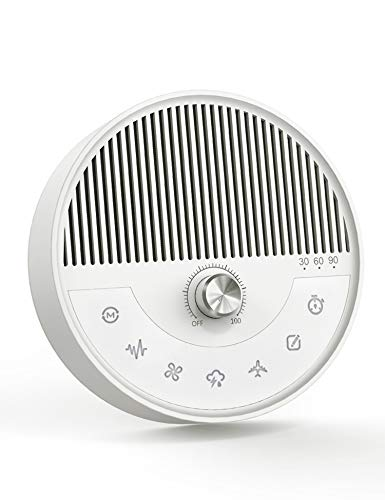 2 in 1 Sound Machine & Bluetooth Speaker - AVWOO White Noise Machine with 26 Non-Looping Soothing Sounds for Sleeping & Relaxation, Portable Bluetooth Speaker with 5W HD Sound for Home Outdoors Travel