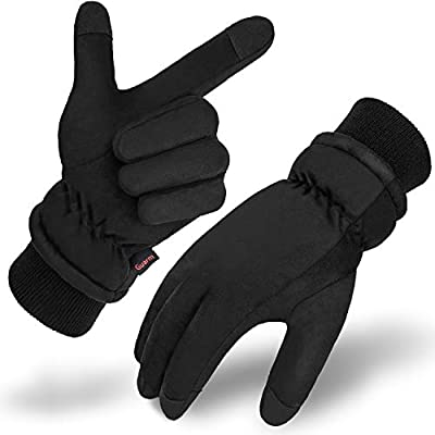 Waterproof Winter Gloves, Touch Screen Windproof Cold Weather Thermal Gloves