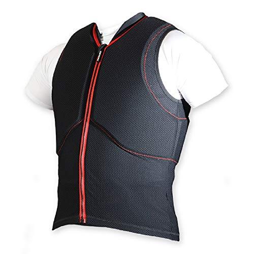 ORTHO-MAX Vest - Gr.XL - Unisex - Ärmellose Weste mit integriertem ORTHO-MAX Rückenprotektor und Brust-/Rippenschutz