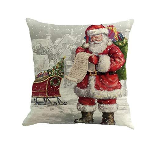 Herramienta Escudo 18x18 Pulgadas Creativa De La Navidad De Santa Claus Patrón Throw Pillow Caso Decoración De Lino Cojín Cuadrado