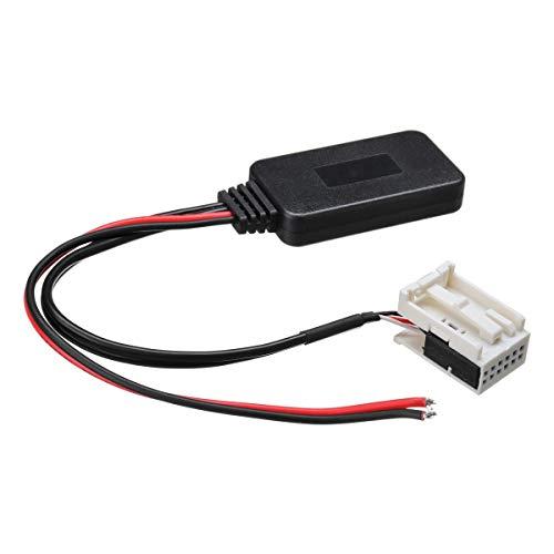 DONGNIE For Peugeot 207 307 407 308 for Citroen C2 C3 RD4 Coche 12 Pin Bluetooth Radio módulo inalámbrico estéreo AUX-IN Adaptador de Cable Aux