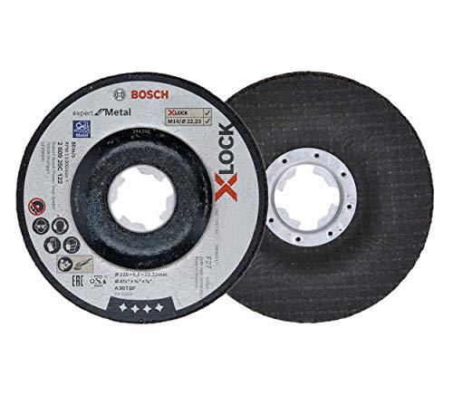 5 x Bosch Professional Afbraamschijf Expert for Metal (voor metaal, X-LOCK, Ø 115 mm, asgat Ø 22,23 mm, accessoire haakse slijper)