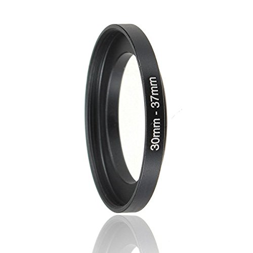 Shipping 30-37mm Metal Step Up Lens Filter Adapter Black