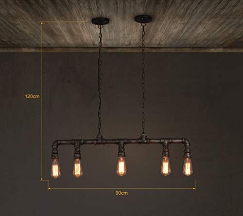 YUQIYU Luces pendientes, luz restaurante Lámparas industriales Lámparas Estilo retro E27 techo Cafés Bares Tienda de ropa del accesorio de iluminación (Color : Edison Bulb)