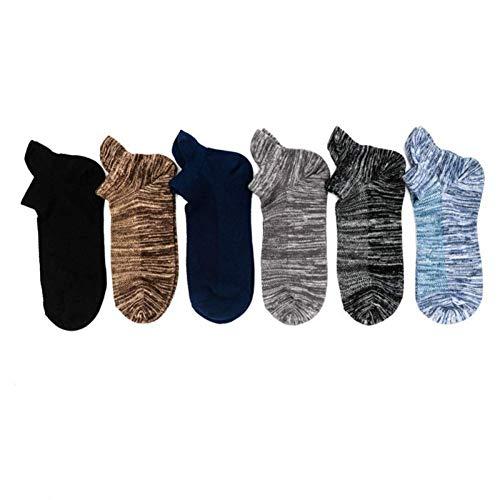 ZKZK Baumwolle Socken für Männer 10 Paare Männer Knöchel Socken Sommer-Herbst-Mesh-atmungsaktive Baumwolle Socken Vintage-gestreifte Mature Male Beiläufiges Geschäfts-Boot