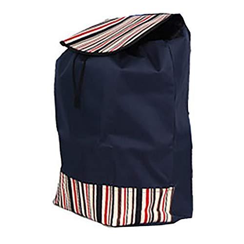 GJ-gwcd Einkaufswagen-Tasche/Einkaufstrolley Ersatz-Tasche mit Seitentaschen, Oxford-Stoff, wasserdichte Aufbewahrungstasche, 44 l (Größe: 40 x 22 x 50 cm), Shopping (Farbe: C)