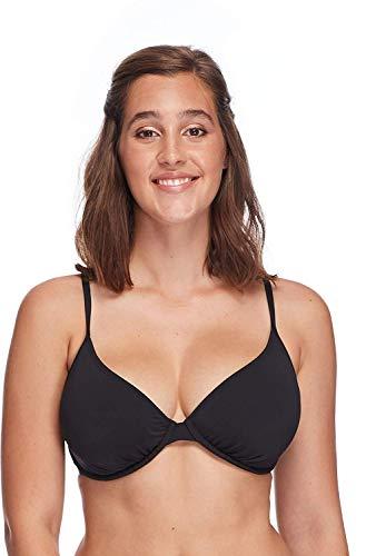 Skye Women's Underwire Bikini Top Swimsuit, Black, DD Cup
