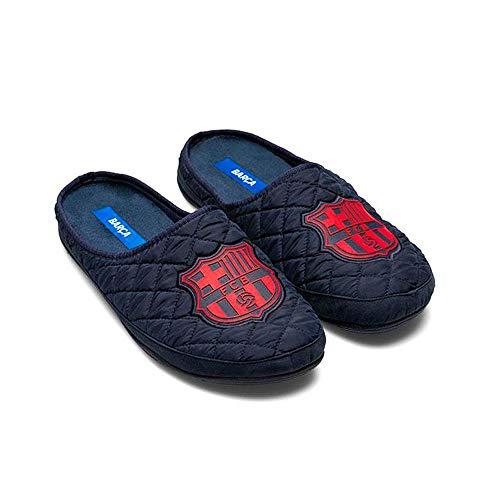 Zapatillas Oficiales FC Barcelona Amatista Azul Zapatillas de Estar por casa Hombre Invierno Otoño - 38.5 EU