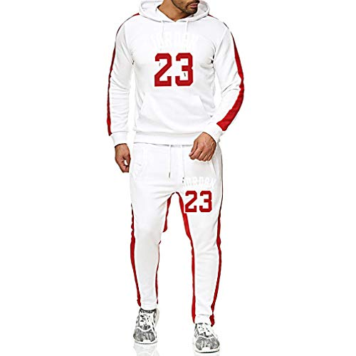 GFENG Unisex Basketball Uniform Jogger Hoodies Sportwear, 23# Jordan Basketball Trikot Sweatshirt Hose Set Basketballhemd Fitness Tracksuits Trainingsanzug Jogginganzug