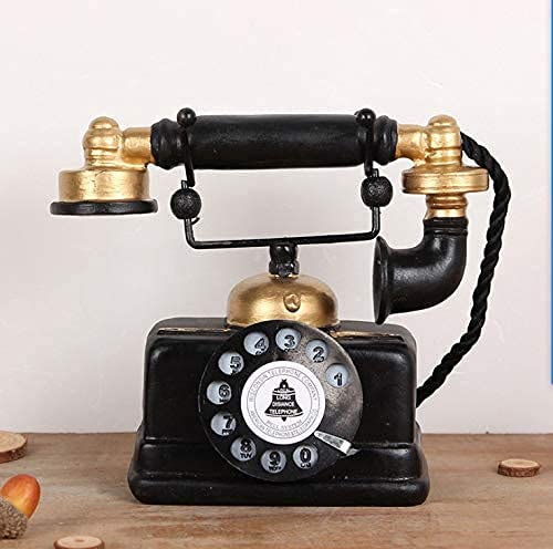 Large Creative Retro Decorative Phone Model Telephone Wall Decor, Vintage Rotary Telephone Decor Statue Artist Antique Phone Figurine Cafe bar Window Decor Model Home Desk Decoration (7.48x6.3x3.94)