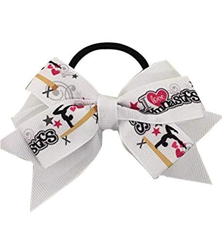 Gymnastics Hair Bow- Gymnastics Hair Accessories- Gymnastics Elastics - Perfect Gift For Gymnast