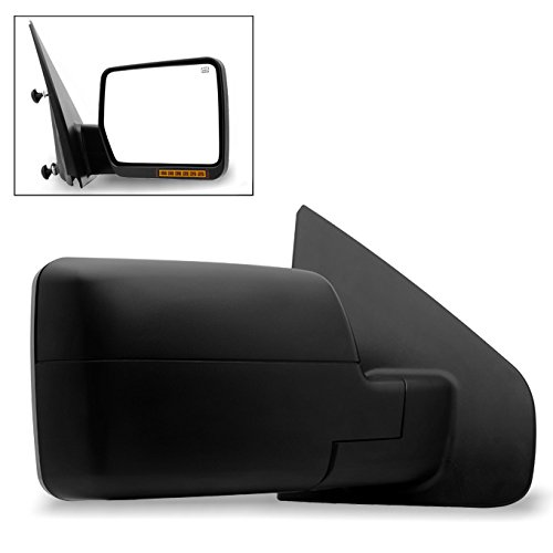 For 2004 2005 2006 Ford F150 Pickup Extending Tow Power Heated w/Amber LED Signal Mirrors Passenger Right Side