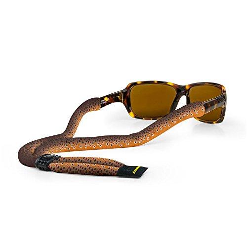 Croakies Croakies Suiters Brillenband Fischprint Braunforelle