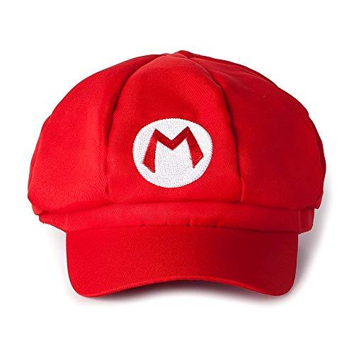 Super mario gorra de béisbol con visera - deportista - adultos - hombre - mujer - unisex - disfraz accesorios disfraz de carnaval - halloween cosplay - idea de regalo para navidad y cumpleaños