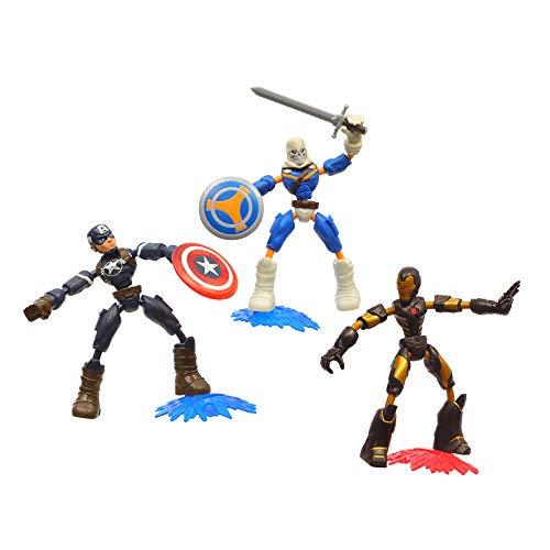Marvel Avengers – Bend and Flex Pack 3 Figuren – Taskmaster vs Iron Man & Captain America