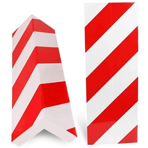 AUTOZOCO Protector Columnas Garaje (4 Unidades) Medidas 40x15cm Evita Golpes y Arañazos con Nuestro Protector Puertas Coche Color Rojo-Blanco